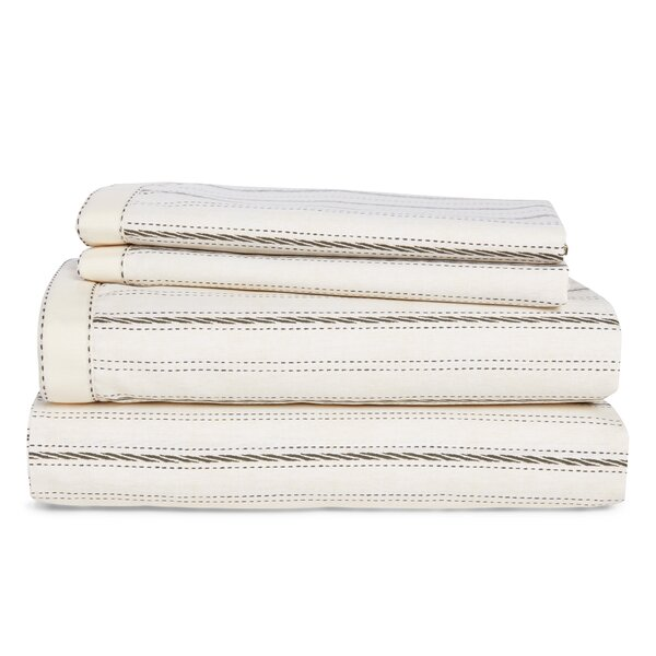 4 Piece 200 Thread Count 100% Cotton Percale Sheet Set by Lauren Ralph Lauren